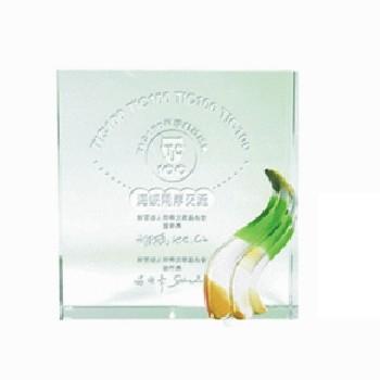 獎牌型水晶獎牌BC-306琉璃水晶獎牌